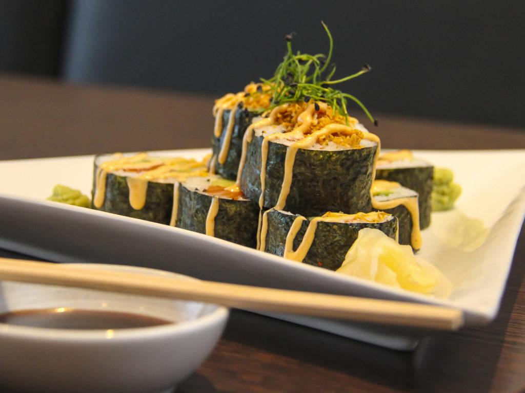 Sushi á Galito - lítur vel út.